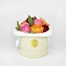 Frische Flowerbox MIX-SMALL in CoconutFlowerbox mit Rosen