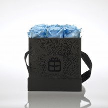 Flowerbox: Baby Blue Roses Forever!