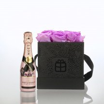 Flowerbox: Infinity Rosen - Baby Lily - Moët Rosé Capsule Collection