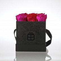 Flowerbox - Roses Forever! - pink-rot